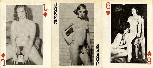Pity, Vinatge nude playing cards