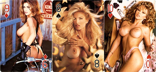 Playing cards of naked girls confirm
