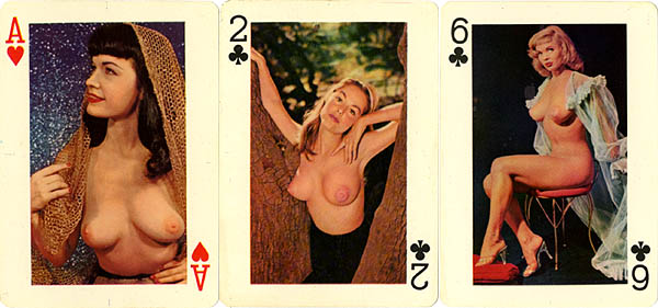 Vinatge nude playing cards you for