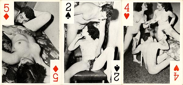 Wild hardcore old vintage porn playing cards