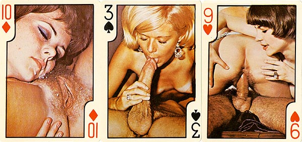 nude face playing cards