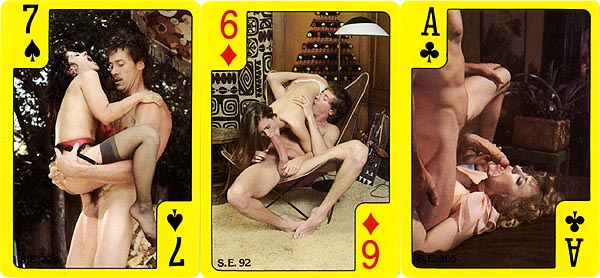 Playing cards xxx vintage porn